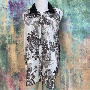 🌟 Kenar great looking black and white Blouse